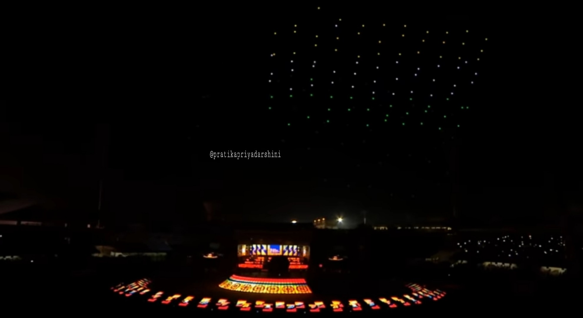 Odisha drone light show lit up the hockey men's world cup